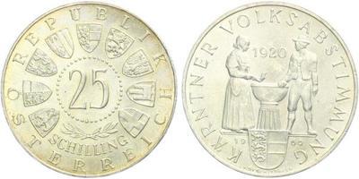 Rakousko, 25 Schilling 1960 - 40. výročí plebiscitu