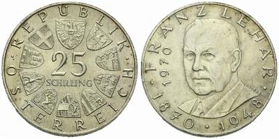 Rakousko, 25 Schilling 1970 - 100. výročí narození Franze Lehara