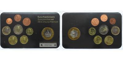 Ročníková sada euro mincí 2007 - 2010, set rozličních ročníků