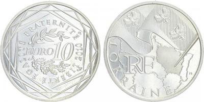 10 Euro 2010 - Lorranie - Ag 0,900, 29 mm (10 g)
