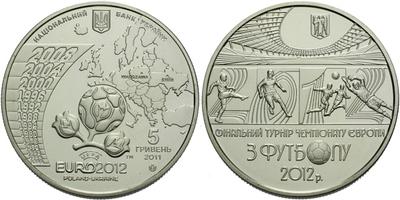 5 Griven 2011 - Mistrovství Evropy ve fotbale EURO 2012 - Warszawa, Kiev, Lvov, Chark