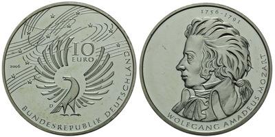 10 Euro 2006 D - W. A. Mozart
