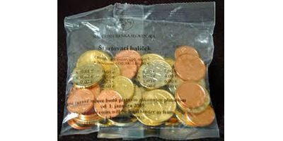 Startovací balíček 2009 - celková nominální hodnota v balíčku je 16,60 EURO