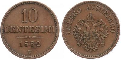 10 Centisimo 1952 V - Benátky