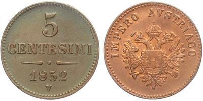 5 Centisimo 1952 V - Benátky