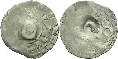 Pražský groš s kontramarkou neznámého německého města, Sm. 14, Krusy X60