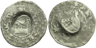 Pražský groš s kontramarkou města Augsburg a Ulm, Sm. 16, 216, Krusy A6,3, U2,11