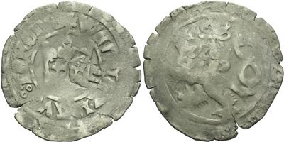 Pražský groš s kontramarkou města Cham, Sm. 67, Krusy C1,1