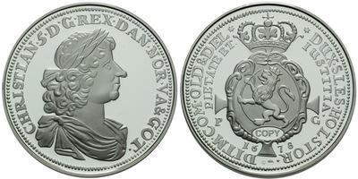 Christian V., Speciesdaler 1678, Ag 0,999, 40 mm (20,07 g), PROOF