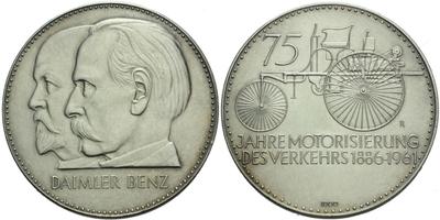 AR Medaile 1961 - Daimler Benz, 75 let motorismu, Ag 1000 (24,85 g)