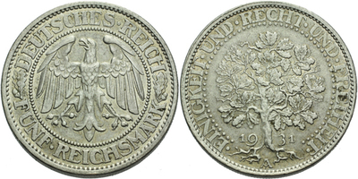 5 Marka 1931 A