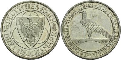3 Marka 1930 A - Porýní, nep. hrany
