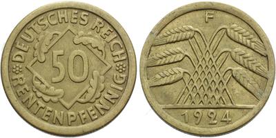 50 Rentenpfennig 1924 F