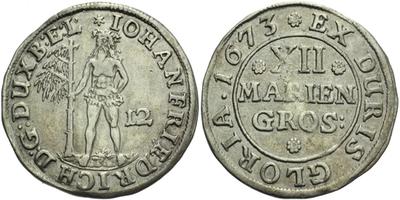 12 Mariánských grošů (1/3 Tolar) 1673
