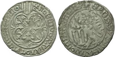 Štítový groš, 1428 - 1444, Freiberg, Krug.736/1