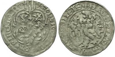 Štítový groš, 1428 - 1444, Freiberg, Krug.736/3