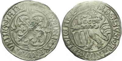 Štítový groš, 1440 - 1456, Freiberg, Krug.1034/9