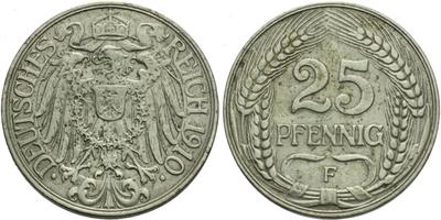 25 Pfennig 1910 F