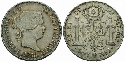 50 Centimo 1868