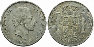 50 Centimo 1885