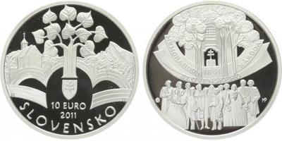 10 Euro 2011 - 150. výročí přijetí Memoranda národa slovenského, PROOF