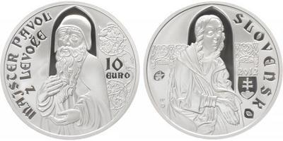 10 Euro 2012 - Mistr Pavol z Levoče, etue, certifikát, PROOF