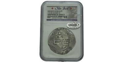 """8 Real 1618 - 1622, Mince z vraku lodi """"Sao José"""" Roku 1622, tedy v době, kdy Portuga"""