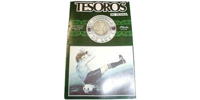 50 Peso 1985 - MS ve fotbale 1986 v Mexiku, Ag, 0,720, 32 mm (15,552 g), původní dvou