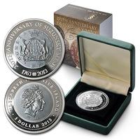 1 Dolar 2013 - 250. výročí mincovny Suzunsky, Ag 0,999, 38,61 mm (31,1 g), PROOF, etu