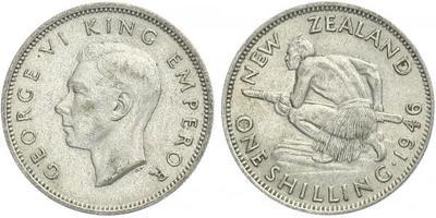 1 Shilling 1946, Ag 0,500, 23 mm (5,65 g)