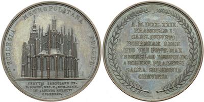 AE Medaile 1829 (Putinati) - K svatořečení sv. Jana Nepomuckého v chrámu sv. Víta, Br
