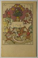 Umělecké, umění - Malířství, Josef Lada, z cyklu Ladovy pohlednice