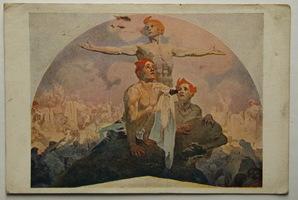 Umělecké, umění - Malířství, Alfons Mucha, Silou k svobodě, láskou k svornosti!
