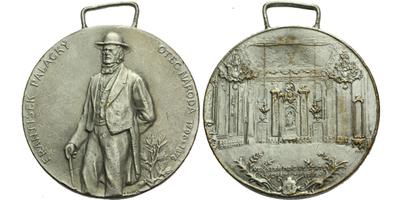 AE Medaile b.l. - František Palacký, otec národa, Postř. bronz 33,5 mm, pův. ouško