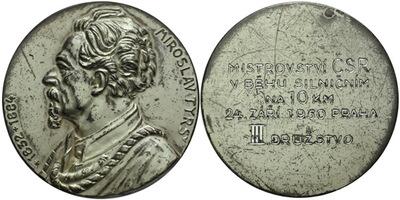AE Medaile 1950 - Miroslav Tyrš, mistrovství ČSR v behu na 10 km, Al 60 mm