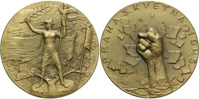 AE Medaile 1945 - Pražské povstání , Br. 65 mm