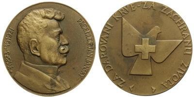 AE Medaile b.l. - Bronzová Jánského plaketa, postř. Br 60 mm