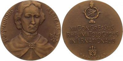 AE Medaile 1969 - XII. mezinárodní kongres revmatologů v Praze, Sig. Albicus, Br 60 m