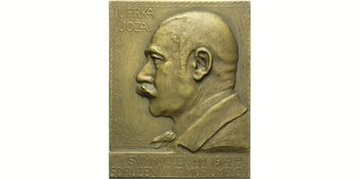 AE Plaketa 1914 - Malíř Joža Uprka - Sdružení výtvarných moravských umělců svým členů