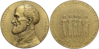 AE Medaile 1936 - František Mareš, Br 70 mm