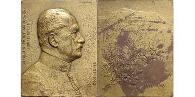 AE Plaketa 1928 - Alois Fürst Schönburg - Hartenstein, Br 70x54 mm