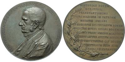 AE Medaile 1898 - 100. výročí narození Františka Palackého, bronz 58 mm