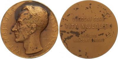 AE medaile 1965 - Výroční cena Vít Nejedlý, etue, 60 mm