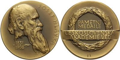 AE medaile 1984 - Josef Hlávka, Pamětní medaile Čs. akademie věd, číslo 13, Br 65 mm