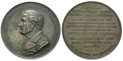 AE Medaile 1895 - 100. výročí narození P. J. Šafaříka, Cu 58 mm