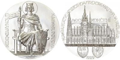 AR Medaile 1929/2017 - Svatý Václav - Dokončení stavby velechrámu sv. Víta