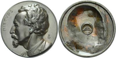 AE Medaile b.l. (1919) - Miroslav Tyrš, patinovaný Zn 60 mm