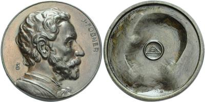 AE Medaile b.l. (1919) - Jindřich Fügner, patinovaný Zn 60 mm
