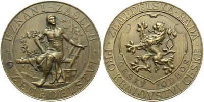 AE Medaile b.l. (1893) - Zemědělská rada pro království české, Br 55 mm