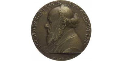 AE medaile 1913 - Mikuláš Aleš - Mánes svým členům, Br 51 mm